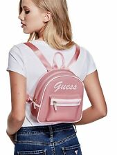 Genuine GUESS Womens Pink Retro Jelly Logo Backpack Handbag NEW WITH TAGS