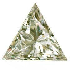 4.06 ct VVS1/12.92mm NEAR WHITE COLOR TRIANGLE LOOSE MOISSANITE DIAMOND 4 RINGS