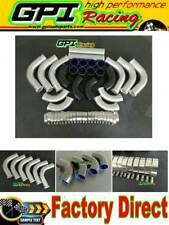 "Intercooler Turbo Piping &Black silicone hose 2.5"" 64mm 12PCS aluminum universal"