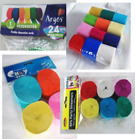 Top Quality Crepe Paper roll for party and wedding decorations  (Pack of 4)