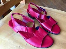 SAS Red Leather Open Toe Strappy  Sandals, 7.5W