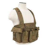 NcStar CVAKCR2921 TAN Tactical Chest Rig w/3 Double Magazine Pouches