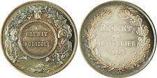 CREDIT  AGRICOLE  ,  DECRET  DU  16  FEVRIER  1861  ,  ARGENT  POINÇON  ABEILLE