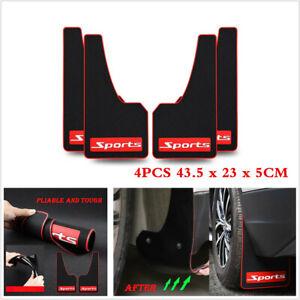 """Sports 4Pcs Car Truck Van Mud Flaps Mudguards Fender Splash Guards Kits 17"""" x 9"""""""