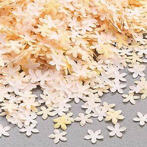 Tischdeko Streudeko Streublüten in Creme-Tönen