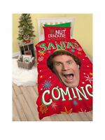 The Elf 'Santa' Christmas Panel Single Bed Duvet Quilt Cover Set Brand New Gift