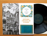EXP 5 Historic Organs Of Europe 17th 18th Century ORYX Stereo Vinyl NM/EX