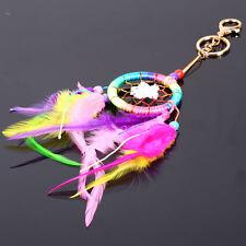 Colorful Dream Catcher Feather Tassel Key Chain Keyring Ring Keychain Keyfob