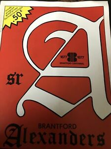 Brantford Alexanders vs Czechoslovakia Dec 30,1976 Hockey Program Prague