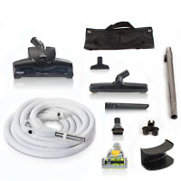 Universal Central Vacuum Hose Kit with Turbo Nozzles & 30ft Hose by GV