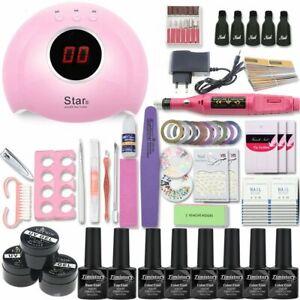 UV Nail Lamp Manicure Set Electric Manicure Handle Kit For Nails Salon Accessory