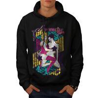 Wellcoda Hot Girl Star Mens Hoodie, Lingerie Casual Hooded Sweatshirt
