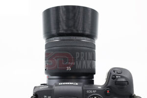 3D PRINTED Lens Hood for Canon RF 35mm f/1.8 Macro IS STM - FREE SHIPPING USA
