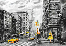 SUPERB NEW YORK CITYSCAPE ARTWORK CANVAS PICTURE MODERN ART HOME DECOR PAINTING