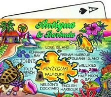 ANTIGUA & BARBUDA MAP CARIBBEAN COLLECTIBLE SOUVENIR PLAYING CARDS