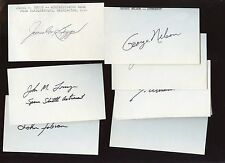 Astronauts Autographed Index Cards 16 Different Hologram