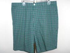 Fairway & Greene Golf Shorts Green & Blue Plaid Size 38 Mint