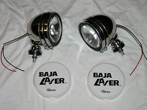 "Stainless 5"" Baja KC Style Off Road Lights 100W truck jeep White Covers 4X4 SS"