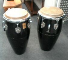 More details for pair of toca kaman conga drums in black percussion instrument - cis m32