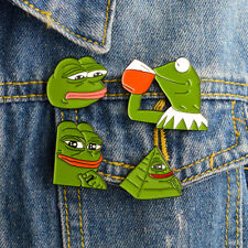 Gifts Creative Funny Cute Sorrowful Pepe The Frog Enamel Brooch Pins Brooches
