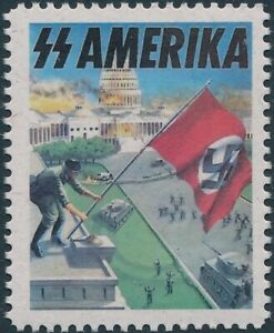 Stamp Replica Label Germany 0369 WWII America Amerika Man in the High Castle MNH