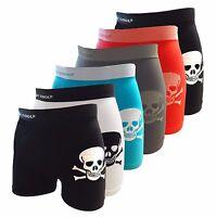 Crazy Cool Men Nylon Seamless Boxer Briefs Underwear 6-Pieces Pack