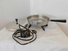 "Vintage FARBERWARE Electric 10"" Fry Pan Skillet Modl 300 Buffet Server (M81-s3c)"