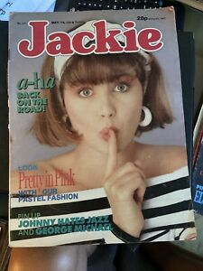 Jackie Magazine, 14 May 88, Aha - Georges Michael- Johnny Hates Jazz Poster