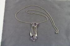 antikes Collier Silber Ametyste und Biwaperlen. Frühes Art Deco um 1920