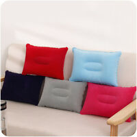 Air Inflatable Pillow Outdoor Portable Folding Double Sided Flocking Cushion HQ