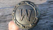 "New listing Vintage Old Monogrammed ""W"" Iron Door Knob"