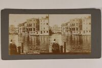 Italia Venezia Grand Canal Foto Stereo Vintage Citrato c1900