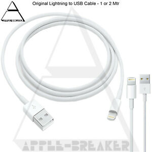 100% Original Genuine Charger USB Data Cable Apple wire For all i Phones iPad UK