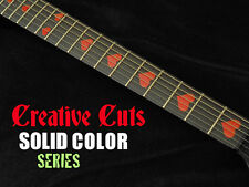 RED Hearts Heart Shaped Fretboard Marker Inlay Sticker Decal for BASS and GUITAR