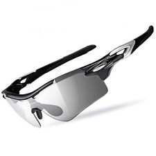ROCKBROS Cycling Glasses Polarized Photochromic Lens Sports Goggles Eyewear New