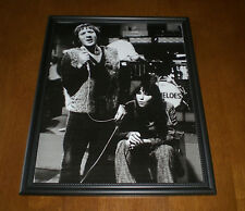 1965 Sonny & Cher Performing Framed B&W Print