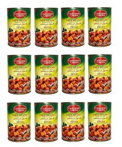 California Garden Premium Plain Fava Beans 12 Cans 16oz/450g Each فول مدمس سادة