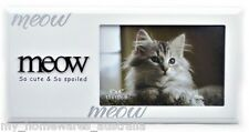 "Cat / Kitten Pet Photo Frame ""Meow: So Cute & So Spoiled"" - Great Quality"
