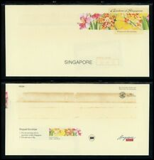 Singapore OS #4 Postal Stationery Singapore Orchid Gardens DOMESTIC USE $$