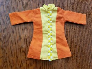 Vintage 1979 Barbie Skipper Doll Mod Clone Orange Yellow Blouse Dress  Outfit