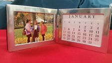"""96 x Photo (3"""" x 5"""") Double Picture Frame / Calendar Polished Stainless NIB"""