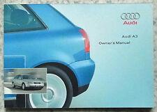 AUDI A3 Car Instruction Owner's Manual Handbook July 2001 #221 561 8L0 20