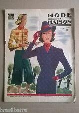 """REVUE """"LA MODE ET LA MAISON"""" 3ème Année n° 35 28 août 1938"""