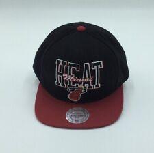 MIAMI HEAT NBA MITCHELL & NESS INTAGE RETRO SNAPBACK CAP HAT NEW!