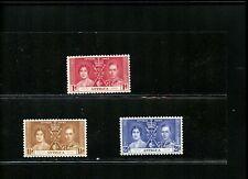 LOT 79673  MINT HR 81-3  ANTIGUA BRITISH COLONY KGV1 1937 CORONATION
