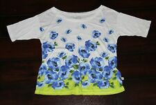Gilly Hicks size XS Abercrombie green white blue ombre short sleeve top