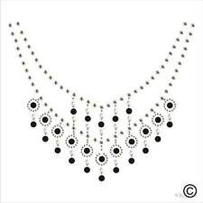 Neckline Detailed Rhinestone Diamante Transfer Iron On Hotfix Gem Crystal