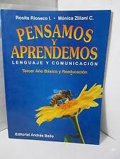PENSAMOS Y APRENDEMOS LENGUAGE Y COMUNICACION TERCER ANO BASICO Y REEDUCACION