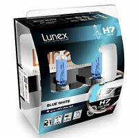 Lunex H7 Blue White 12v Replacement Upgrade Car BULB Twin