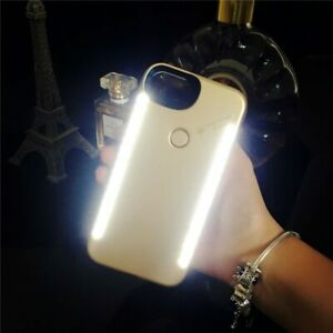 White Light Up Selfie LED Phone Case Cover For iPhone Models Xr Xs Max Xs 8 7 6s